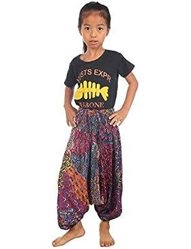 Lofbaz Kinder Mädchen Kinderhose Hose Haremshose und Overall Aladinhose Baby Sommer jumpsuit