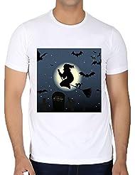 Camiseta Cuello Redondo para Hombre - Espeluznante Halloween Horror Miedo by Grab My Art