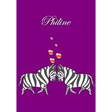 Notizbuch Einhorn Malbuch Tagebuch Philine DIN A4 blanko