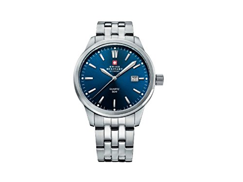Swiss Military Analogue Blue Dial Men's Watch - (SMP36009.03)