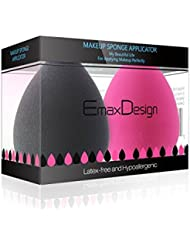 EmaxDesign Lot de 2éponges à maquillage sans latex et hypoallergéniques