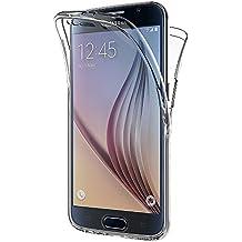 Funda Samsung Galaxy S6, AICEK Transparente Silicona 360°Full Body Fundas para Samsung S6 Carcasa Silicona Funda Case (5,1 Pulgadas)