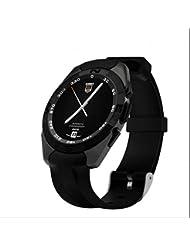 SmartWatch Bluetooth Montre de Sport suivi de mouvement,Fréquence Cardiaque Tracker,design élégant,Appel mains-libres function,Sport Pédomètre Montre sport pour iPhone,Android,iPad,Huawei,HTC,etc fête des pères