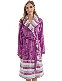 Albornoz Mujer Largos Invierno Manga Larga Flecos Batas Elegantes Informales Fashion Termica Ropa Espesar Pijama Sauna