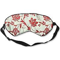 Red Floral Wallpaper Sleep Eyes Masks - Comfortable Sleeping Mask Eye Cover For Travelling Night Noon Nap Mediation... preisvergleich bei billige-tabletten.eu