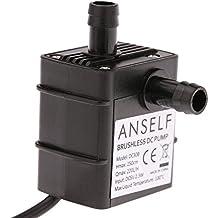 ANSELF - Bomba de Agua / Aceite / Líquido para Fuente Sumergible Acuario Circulación Impermeable & Sin Cepillo (Max.Lift:2.5m,USB5V,2.3W,Mini micro)