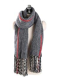 XPFF Écharpe De Luxe Femmes Hiver Chaud Marque De Mode Couleur Rayé Combat  Couleur Gland Foulards 8560f825883