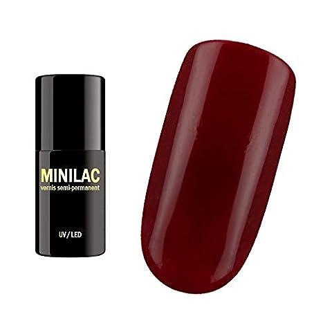 Vernis semi-permanent Rouge sang UV et LED minilac