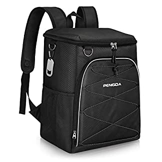 PENGDA Cool Bag Rucksack - 25 Cans Insulated Backpack Large Capacity Lightweight Waterproof Cooler Bags for Camping Hiking Lunch Picnic Daypack (Black) 3