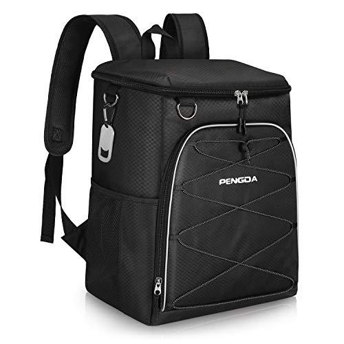 PENGDA Kühlrucksack Kühltasche - Groß Kühl Rucksack Wasserdichten Ultraleicht Rucksäcke Damen Herren Cooler Bag für Camping, BBQ, Wandern, Picknick (Schwarz, 25L) -