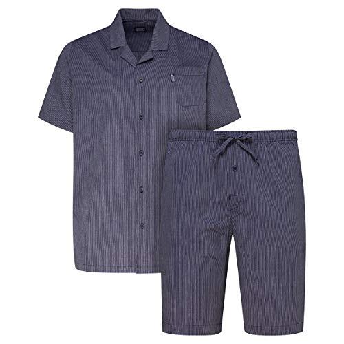 Jockey kurzer Pyjama Navy-weiß gestreift Übergröße, XL Größe:5XL