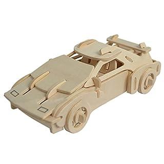 Aubig 3D Wooden Puzzle Simulation Model - Ferrari Car