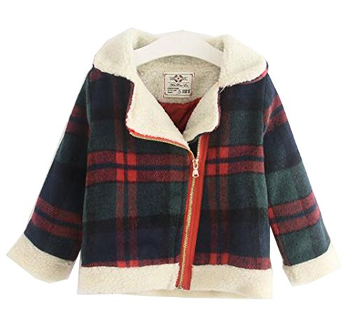 arrowhunt-baby-girls-winter-warm-plaid-zipper-long-sleeve-sherpa-coat-green