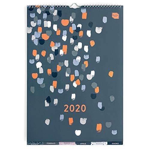 Boxclever press perfect year calendario 2020 (in italiano) a3 con etichette. calendario 2020 da muro da gen a dic 2020. ampio spazio per ogni giorno e per le note. con tasca e adesivi promemoria.