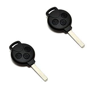 2x SMART Fortwo 451 Schlüssel Gehäuse Fernbedienung 3 Tasten Benz KS24 450 451 452 454
