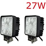 2 x LED 27W 2500Lumen 9-30V Work Light Bar for Off-road SUV Boat