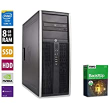 PC Gamer Multimédia Unité centrale - HP Elite 8300CMT - Nvidia Geforce GTX 1050 -Core i5-3470@3,2GHz-8 Go RAM - 1To HDD - 240Go SSD - Lecteur DVD - Win 10 PRO (Reconditionné)