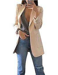 f3d341ffb49c9 Femme Élégant Blazer à Manches Longues Slim Fit OL Bureau Affaires Veste De  Costume Manteau Cardigan