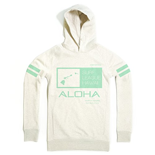 DEPARTED Herren Hoodie Sweatshirt mit Print / Aufdruck 7052-100 - new fit Größe S, Cream melange (Sweatshirt Aloha)