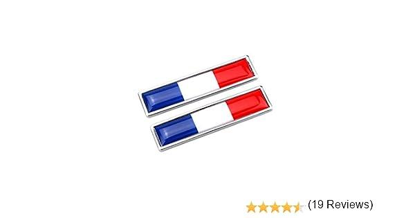 Pi/èce//Accessoires Auto Ndier 1pair Drapeau National Autocollants en m/étal Multi Utilisation Bumper Stickers Drapeau Chrome Emblem Creative Drapeau Autocollants France