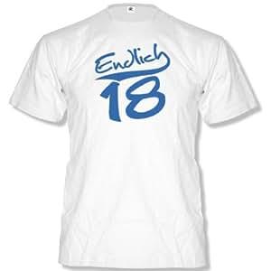 ENDLICH 18 - Herren T-Shirt Gr. S bis XXL