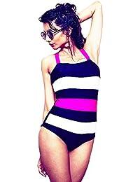 Nidhi Munim Women's Multicolor Striped Bandage Swimsuit