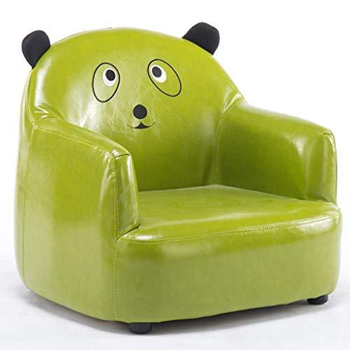 LMCLJJ Zeitgenössische Kinder Recliner PU Leder Lounge Möbel für Jungen und Mädchen Cup Holder Kinder Sofa Chair (Color : Green) - Leder-zeitgenössische Möbel