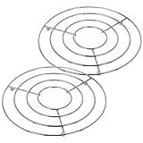 COM-FOUR® 2x Topfuntersetzer aus Metall, Untersetzer für Töpfe oder Teekannen, Ø 20 cm (02 Stück - Design 4)