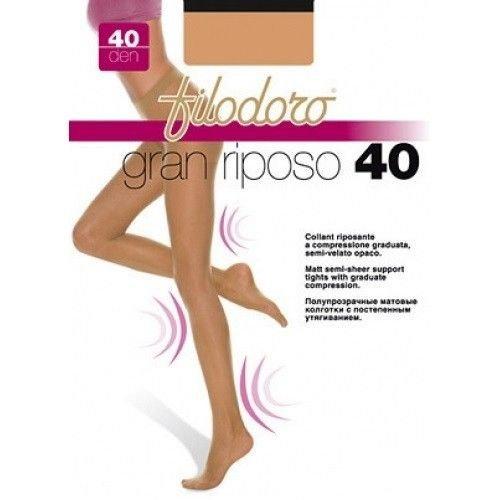 6 PAIA COLLANT DONNA RIPOSANTE COMPRESSIONE GRADUATA FILODORO GRAN RIPOSO 40 DEN (Moka - 3/M)