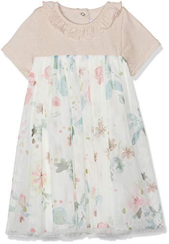 Petit Bateau Baby-Mädchen Barre Kleid, Mehrfarbig (Pearl/Multico 01), 80 (Herstellergröße: 12M/74cm) - Pearl-kleid