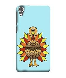 PrintVisa Designer Back Case Cover for HTC Desire 825 (Ostrich Wings Hen Cock Flower )