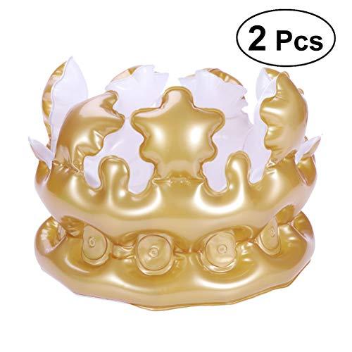 BESTOYARD 2 STÜCKE Aufblasbare Crown Party Hüte Königin König Kronen Neuheit Aufblasbare sprengen Spielzeug Festival Geburtstag Party Favor Kinder Geschenk ()