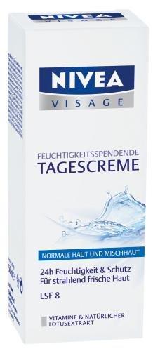 Nivea Visage Aqua Effect Feuchtigkeitsspendende Tagespflege (Mischhaut, blau), 50ml (Visage Gesichtscreme)