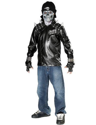 Rubies Kost-me 155852 Metallsch-del Biker Kind-Teen Kost-m Gr--e: -