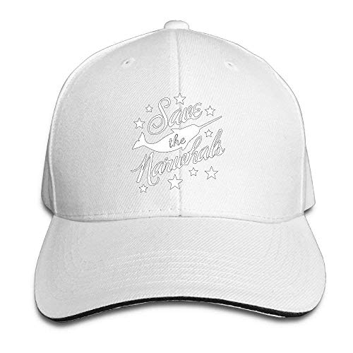 KAKICSA Personality Caps Hats Women's/Men's Save The Narwhals Adult Ad