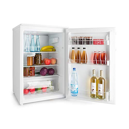 Klarstein Springfield Eco Standkühlschrank • Mini-Kühlschrank • 124 Liter Gesamtvolumen • Energieeffizienzklasse A+++ • 61 kWh/Jahr • freistehend • 55 x 85 x 58 cm (BxHxT) • platzsparend • LED • weiß