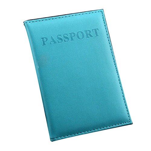 Frauen & Männer Art und Weise Faux Leder Spielraum Pass Halter Abdeckung ID Karten Beutel Pass Mappen Schutzhülle Aufbewahrungstasche (Fall Leder-id-karte)