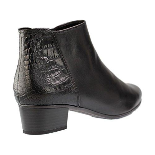 GABOR - 55.600 - Damen Kurzschaft Stiefel - Schwarz XXL Schuhe in Übergrößen Schwarz