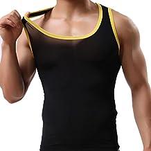 VENMO Camisetas de Tirantes, Hombres Hielo de Seda sin mangas Seda Casual Deportivo Muscular Verano Camisetas sin mangas