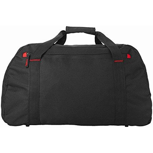 Borsa Viaggio Grande Vancouver Borsone Sportivo Unisex Sport Palestra Zip Messenger Sacca Bag Capiente Tracolla Regolabile Removibile Tasca Frontale Porta Accessori Abiti Uomo Donna (Azzurro) Nero