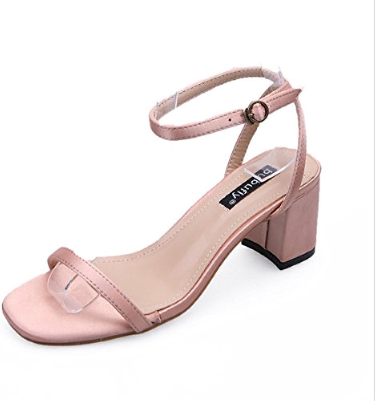 HUAIHAIZ Tacones de Mujer Boca de Pescado Sandalias Chicas Señoras Net Hilados de Alta Heel Shoes Noche Zapatos... -