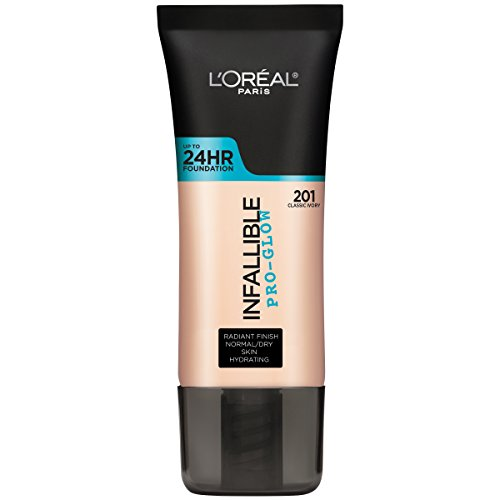L'Oréal Paris Pro Glow Longwear Foundation, 201 Classic Ivory, 30 ml (Amazon Exclusive)