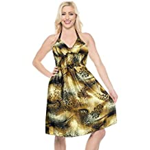 75f3f5481 LA LEELA las Mujeres Tubo Corto regularwear de impresión Vestido Silk Satin