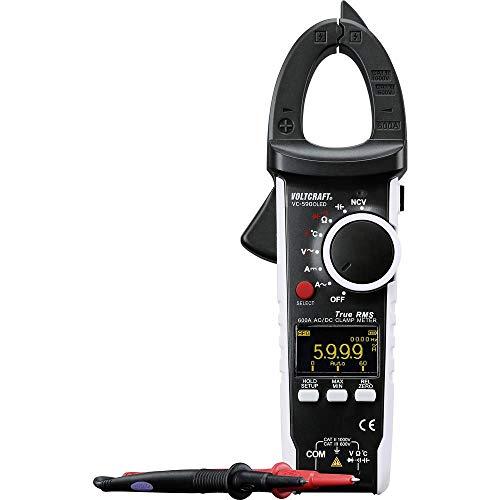 VOLTCRAFT VC-590OLED Stromzange digital OLED-Display CAT III 600 V, CAT II 1000 V Anzeige (Counts): 6000