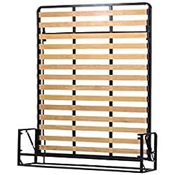 Wallbedking Classic Mécanismes de Lit Mural/Lit Escamotable/Lit Rabattable Vertical 160cm x 200cm