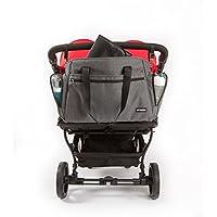 Baby Monsters - Bolso cambiador para la silla de paseo Easy Twin, color gris antracita