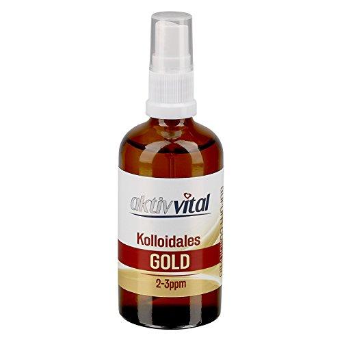 50 ml Kolloidales Gold Aktiv-Vital, 2-3ppm, Braunglasflasche mit Sprayaufsatz preisvergleich