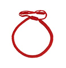 Idea Regalo - LUCKY BUDDHIST Bracciali portafortuna fatti a mano da monaci buddisti tibetani (Rosso)