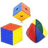 Mayatra's Combo Of 5x5 Stickerless Speed Cube,2x2 Rubiks Cube & Shengshou Master Pyramorphix Puzzle Cube Magic