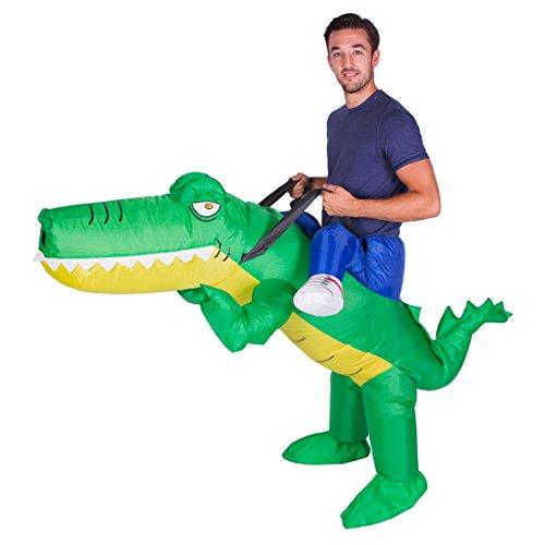Imagen de disfraz de cocodrilo aligátor safari hinchable para adultos